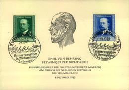 1940, EMIL VON BEHRING, Special Card - Medicine