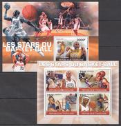 A135 2010 REPUBLIQUE TOGOLAISE SPORT BASKETBALL STARS LEBRON JORDAN KB+BL MNH