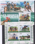 A136 2010 T REPUBLIQUE TOGOLAISE SPORT HORSES LES SPORTS HIPPIQUES KB+BL MNH