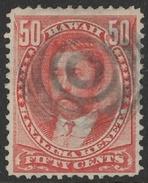 HAWAII: 1883 50c King Lunalilo FU, SG 50 Cat £60 - Hawaï