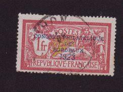 FAUX N°182 1 F MERSON EXPOSTION DE BORDEAUX 1923 OBLITERE 2EME CHOIX