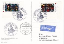 France Card P/m Colmar 2001 Gendarmerie Nationale - BMW R 1100RT   MC In Postmark (T8A21)
