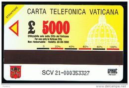 07 - VATICANO - TESSERA TELEFONICA NO. 21  NUOVA