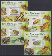 A32 Burundi - MNH - Animals - Reptles - Frogs - Deluxe - 2011