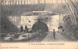 02 - AISNE - LESDINS - Le Souterrain - Beau Plan Péniche - Canal De Saint Quentin