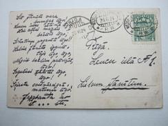 1924 , Bahnpost Stempel Auf Postkarte - Lettland