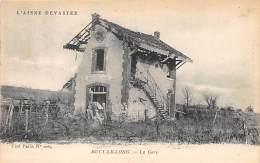 02 - AISNE - BUCY LE LONG - La Gare Dévastée