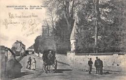 02 - AISNE - ROZET SAINT ALBIN - Route De Neuilly - Animée - Attelage