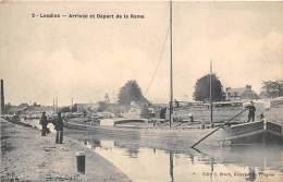02 - AISNE - LESDINS - Arrivée Et Départ De La Rame - Péniche
