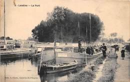02 - AISNE - LESDINS - Le Port - Péniche NAPOLEON -