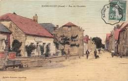 02 - AISNE - RAMECOURT - Rue Du Cimetière - Très Belle Carte Toilée Et Colorisée