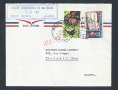 LETTRE PAR AVION DE 1968 SOCIETE EQUATORIALE DE RAFFINAGE ( PETROLE ) PORT GENTIL GABON :