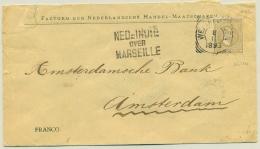 Nederlands Indië - 1893 - 15 Cent Willem III Op Cover Met NED=INDIE Over MARSEILLE Naar Amsterdam