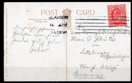 GB 1902: 1 D Edward VII (De La Rue Print) Used On A Photonpostcard (Glasgow University); Michel No. 104 I X B