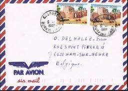 Burkina Faso 1997 Postal Cover Dédougou - Ham-sur-Heure (Belgium) - Traditional Habitat - Burkina Faso (1984-...)