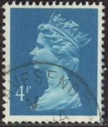 GB Yv. N°1325 - 4p Turquoise - Oblitéré - Machin-Ausgaben
