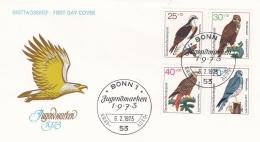 Germany FDC 1973 Birds (T8A22)