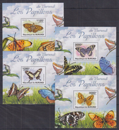 A32 Burundi - MNH - Insects - Butterflies - Deluxe - 2011
