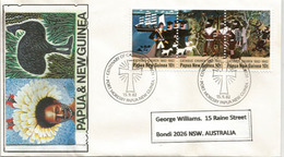 Centenaire De L'Église Catholique En Papouasie (arrivée Des 1ers Missionnaires) Sur Lettre Adressée AUSTRALIE