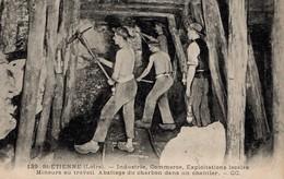 St-Etienne,industrie,exploitation Locale,Mineurs Au Travail........ - Mines