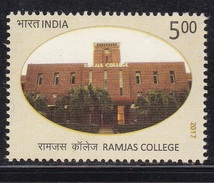 INDIA, 2017, Ramjas College, Architecture, Education, MNH, (**)