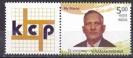 INDIA, 2016, MY STAMP, KCP Ltd,, V Ramakrishna, LIMITED ISSUE, 1v With Tab, MNH, (**)