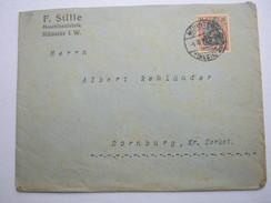 1919 , Münster  , Brief Mit Firmenlochung  , Perfin