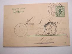 1908 , Bahnpost  LEGAU - MEMMINGEN , Klarer Stempel Auf Karte