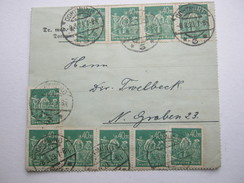1923 , 40 RM  Arbeiter , Massenfrankatur Auf Brief Aus  Dortmund