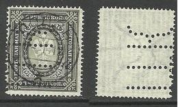 RUSSLAND RUSSIA 1902 Michel 55 Y Poland LODŽ Perfin O