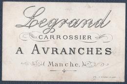 """Avranches.Legrand """" Carrossier """".Au Dos Un Petit Mot Signé De Mr.Legrand. - Automobil"""