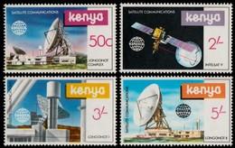 ~~~ Kenya 1981 - Space & Satelites - Mi. 183/186 ** MNH  ~~~ - Kenia (1963-...)