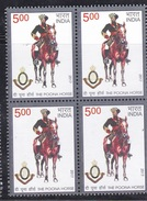 INDIA, 2017, The Poona Horse, Militaria, Block Of 4, MNH, (**)