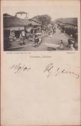 1901 Sri Lanka Ceylon Ceylan To Antwerp Colombo Street View (Colombo Apothecaries Co. Ltd. Publishers) - Sri Lanka (Ceylon)