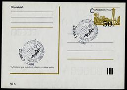 780-CZECHOSLOVAKIA Prepaid Postal Card World Women's Volleyball ŽILINA Commemorative Stamp 1986