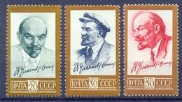 USSR 1961 Lenin. Mi: 2484A-2486A. 3v**