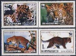 MDW-BK1-047 MDA MINT PF/MNH ¤ NRD KOREA 1998 4w In Serie ¤ WWF - PANTERS - ENDANGERED ANIMALS
