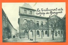 """CPA Pamiers """" Le Tribunal Et Le Collège De Garçons """" LJCP 34"""