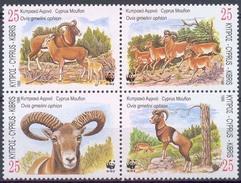 MDW-BK1-049 MDA MINT PF/MNH ¤ CYPRUS 1998 4w In Serie ¤ WWF - WILD - ENDANGERED ANIMALS
