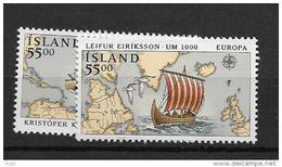 1992 MNH Cept Iceland - Europa-CEPT