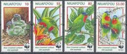MDW-BK1-055 MDB MINT PF/MNH ¤ NIUAFO'OU 1998 4w In Serie ¤ WWF - BIRDS - ENDANGERED ANIMALS