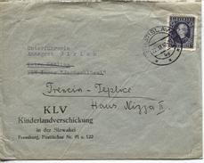 Slowakei Dienstbrief Vom 22.9.42 Der KLV-Verwaltung 'Die Inspektionsbeauftragte Für Die Slowakei' An (nachgesandt) Eine - Covers & Documents