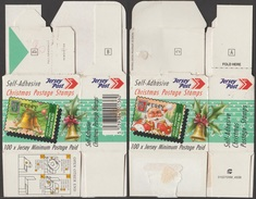 Jersey 2001 Y&T 1000 à 1004. Boîte Des Timbres Noël. Père Noël Et Cloche. Peu Commun