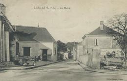 37,Indre Et Loire,LUZILLE 697habitants,La Mairie, Personnages, Scan Recto-Verso - France