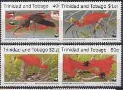 MDW-BK1-056 MDB MINT PF/MNH ¤ TRINIDAD AND TOBAGO  1990 4w In Serie ¤ WWF - BIRDS - ENDANGERED ANIMALS