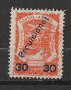 "A479.-. KOLUMBIEN . 1923 . SCADTA . MI#: 42 - USED - OVERPRINED "" PROVISIONAL "" - SURCHARGE 30 CVS. / 60 CVS. CV: 40 EUR"