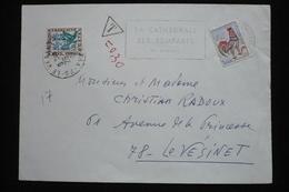 Taxe 30c Fleurs  Sur Lettre Coq 26/12/66 Le Vésinet