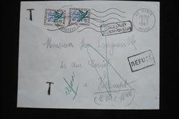Taxe 60c Fleurs  Sur Lettre étain 2/3/67 Au Dos Nancy 01 Rebuts