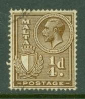 Malta: 1926/27   KGV (inscr. 'Postage')     SG157   ¼d     Used - Malte (...-1964)