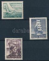 Poland Stamp Ship Set MNH 1952 Mi 754-756 WS234426